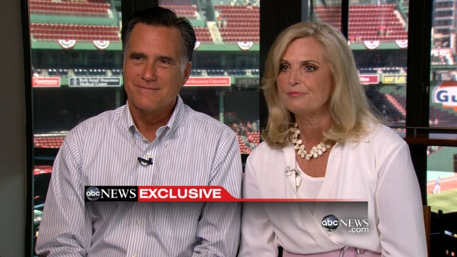 VIDEO: Mitt and Ann Romney talk to Diane Sawyer, say Obama needs to start packing.