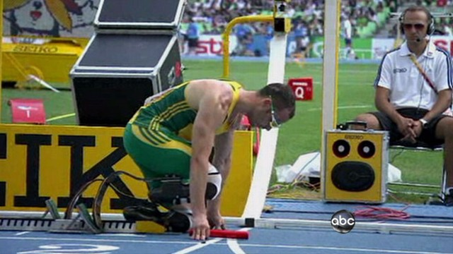 VIDEO: Runner missing two legs reaches World Championships in South Korea.