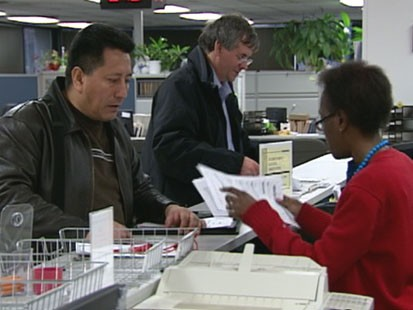 VIDEO: Recession-weary employers slash 663,000 jobs in March.