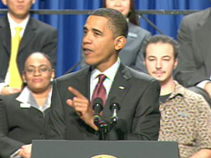 VIDEO: The president announces a plan to try and stave off foreclosures.