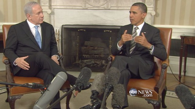 VIDEO: Israeli leader in Washington the day after Obamas harsh words on Middle East.