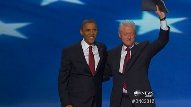 VIDEO: Former President Bill Clinton warmed the stage for tonights big moment.