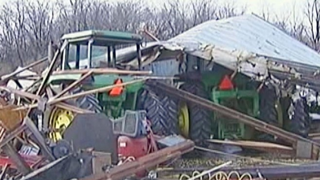 VIDEO: New Years Eve sees more wild storms from Arkansas to Missouri to Illinois.