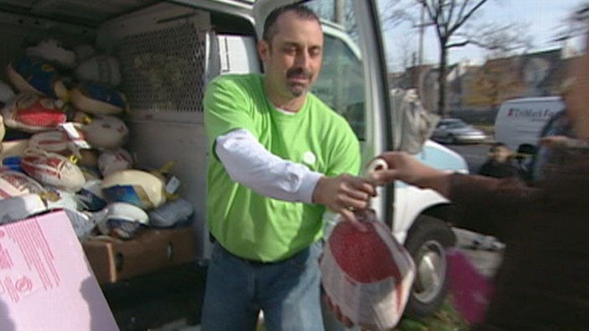 VIDEO: Across the country, food banks are overwhelmed with families hoping for help.