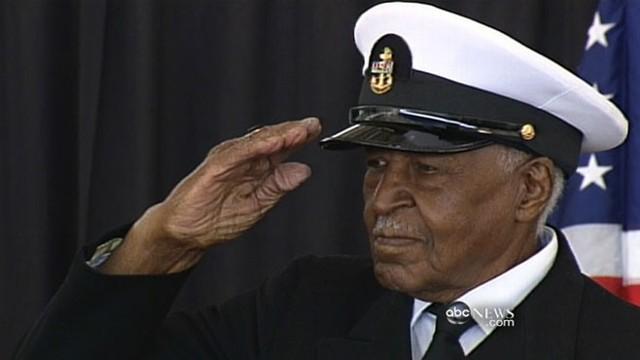 VIDEO: Navy recognizes war hero 66 years later.