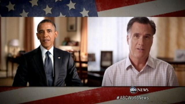 VIDEO: New campaign ads target early voters before next weeks presidential debate.