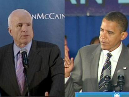 John McCain and barack Obma