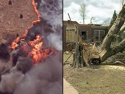 VIDEO: Wildfires, Twisters Ravage U.S.