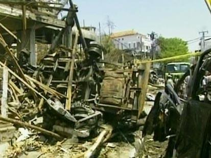 bomb damage in Bali