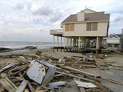 Ruins Remain in Galveston, Texas