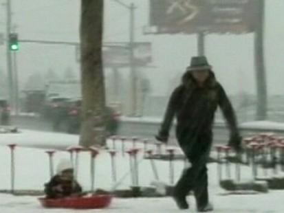 Snowstorm Sweeps Across U.S.