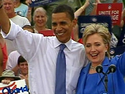 Sen. Barack Obama and Hillary Clinton