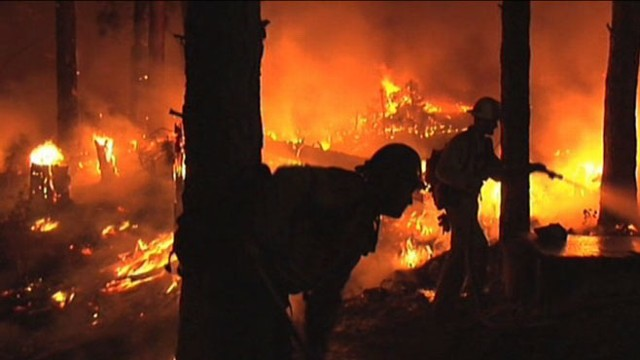 VIDEO: Thousands of firefighters continue to battle the raging fires.