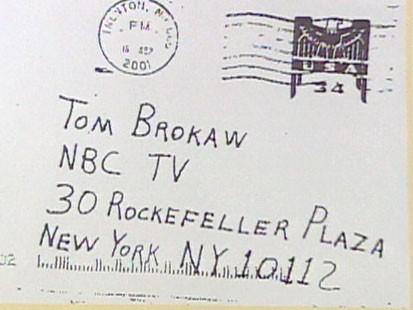 Antrax letter to Tom Brokaw