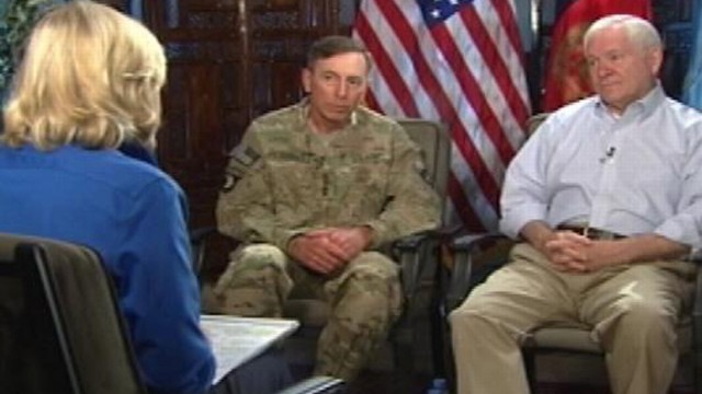 VIDEO: Gen. Petraeus and Sec. Gates discuss the war in Afghanistan with Diane Sawyer.