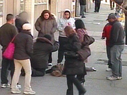 VIDEO: Bystanders on a busy street were put to the test in this ethical dilemma.