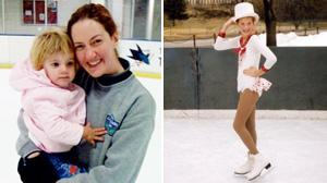 PHOTO Former competitive skater, Sarah Granger, who has had rare nerve damange since childbirth.