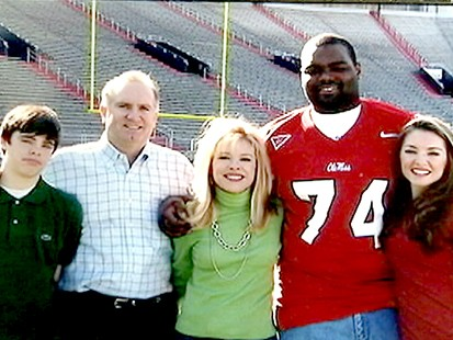 the blind side michael oher football scene from meet
