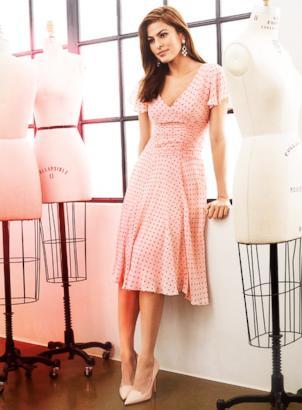 Eva Mendes models her ...