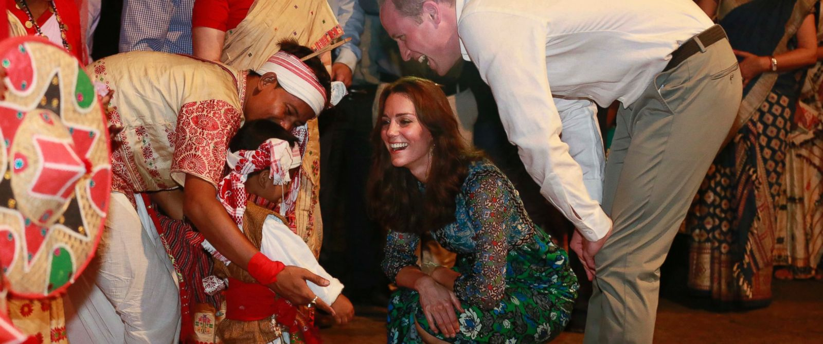 Prince William and Kate Greeted With Campfire, Dancers in