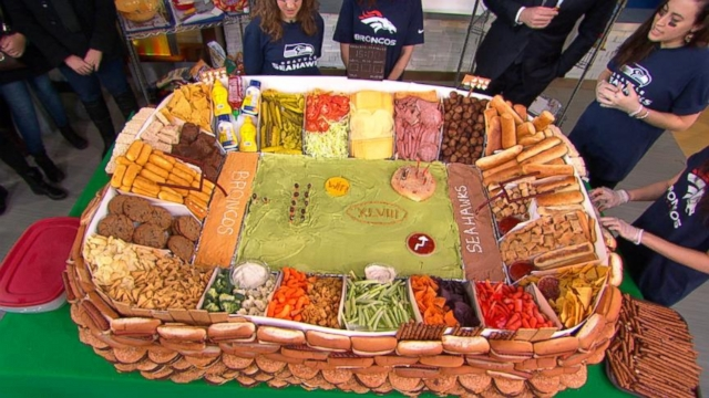super bowl party food bowl snack stadium revealed abc news 31187