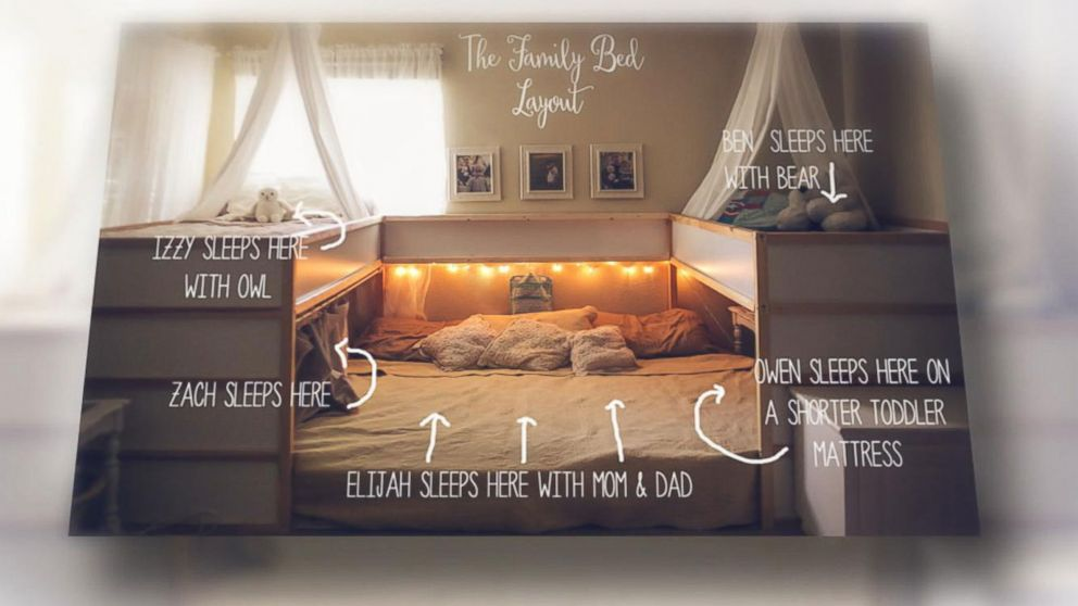 Texas Family Embraces Co Sleeping With Epic Bed Hack