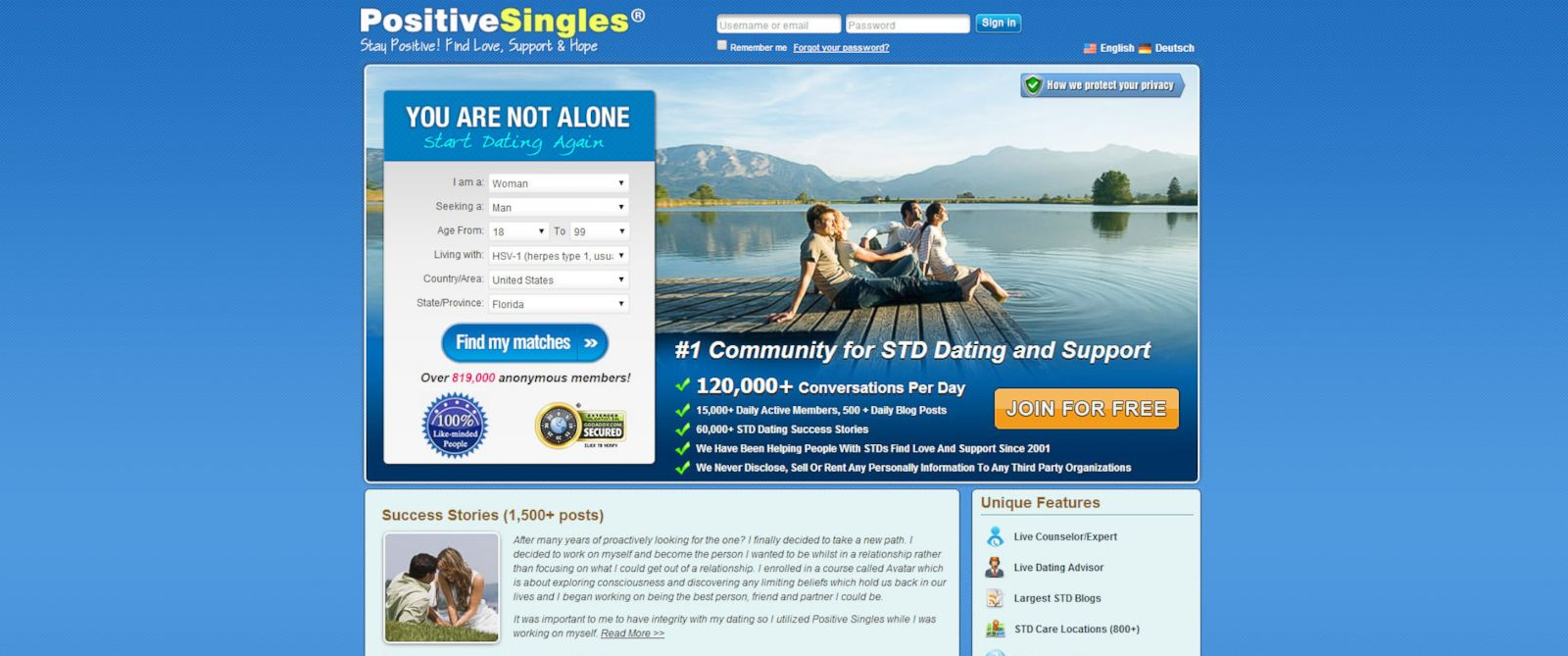 Dating sites for people with stds