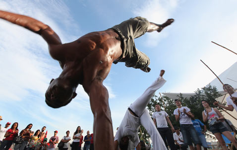 Brazilians Perform Capoeira At The Rio 20 Counter Summit Or People S On June 18 2017 In De Janeiro Brazil Is Financed By