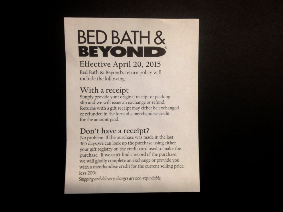 How Bed Bath Amp Beyond Will Punish Customers Making Returns