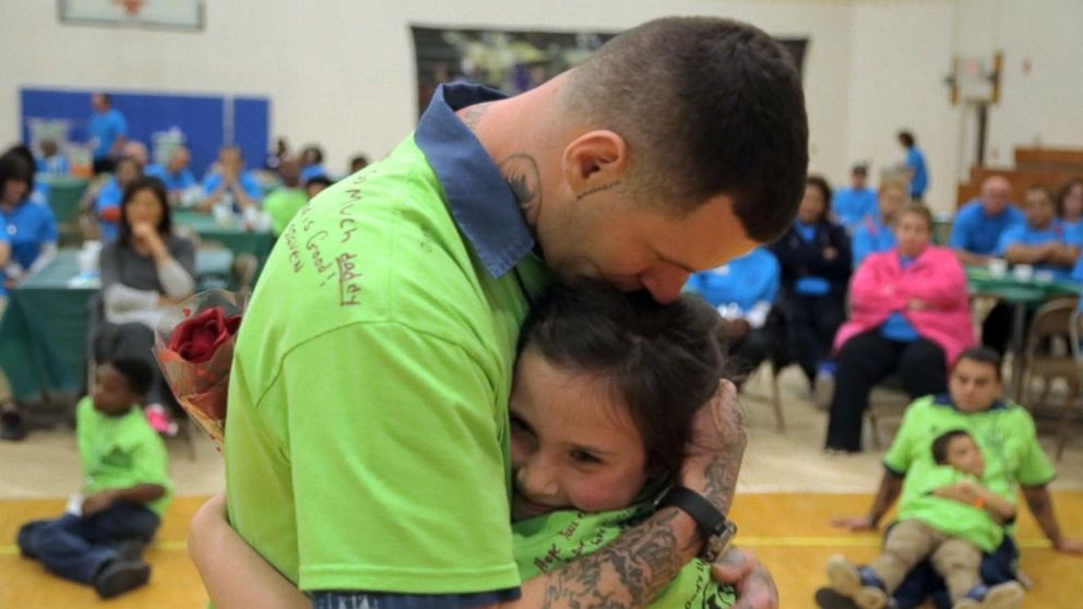 Children Of Prisoners Reunite With Their Fathers Behind