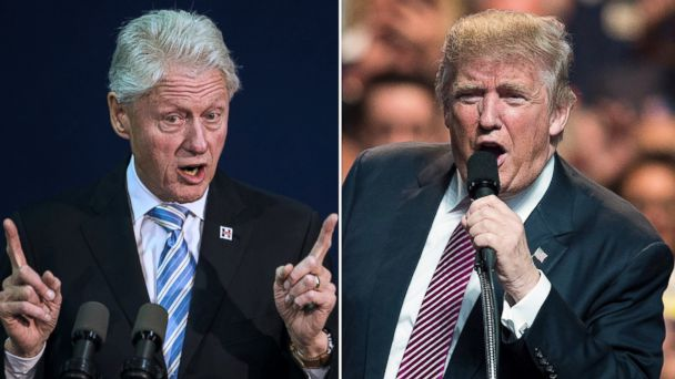 bill clinton and donald trumps meet