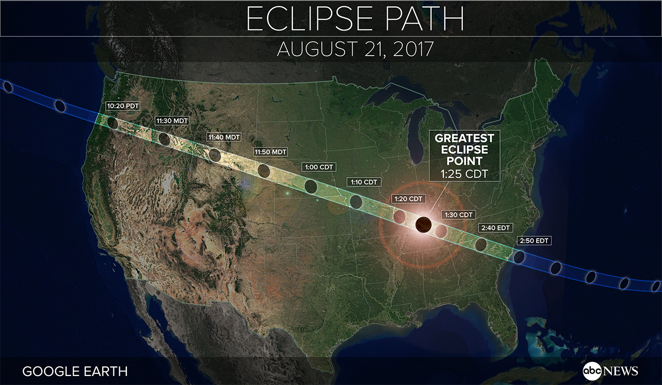 Total Solar Eclipse 2017 Everything To Know About The Upcoming - Us-total-eclipse-2017-map