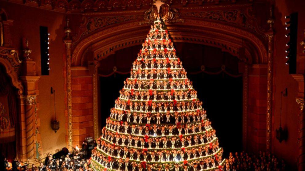 High School Choir Performs As 67-Foot 'Singing Christmas